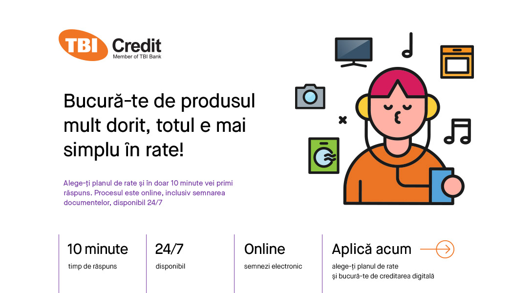 Plateste in rate de la TBI Bank direct online